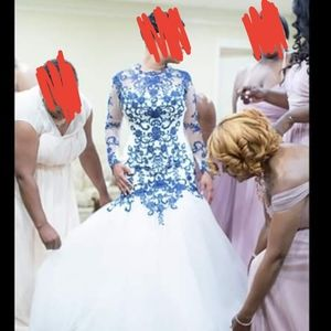 Mermaid Navy Lace Wedding Dress Alfred Angelo